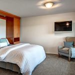 """3rd bedroom Lower Level with beautiful built-in Murphy Bed system, custom """"man handles."""""""
